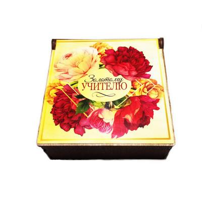 """Набор подарочный №114 ко Дню Учителя  """"Орхидея в шкатулке"""" (Мыло цветок Орхидея в шкатулке, ягодки малины)"""