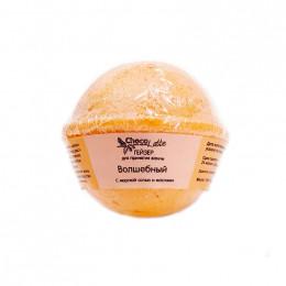 Гейзер (бурлящий шарик) для ванн праздничный ВОЛШЕБНЫЙ с морской солью и маслами, 120 гр.