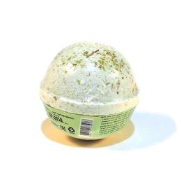 Гейзер (бурлящий шарик) для ванн ГАРМОНИЯ, тонизирующий с морской солью, глиной, маслами оливы, винограда, розмарина и мяты, 120 ±15гр.