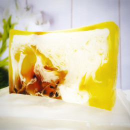 """""""Зеленый чай"""" мыло твердое глицериновое ручной работы 100 гр.±5"""