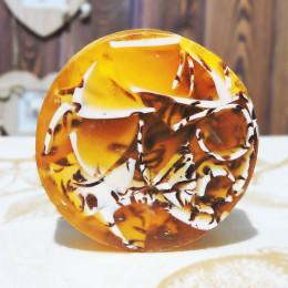 """""""Апельсин с корицей"""" мыло твердое глицериновое ручной работы 100 гр.±5"""