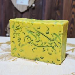 """""""Желтая глина с эфирным маслом бергамота"""" мыло твердое глицериновое ручной работы 100 гр.±5"""