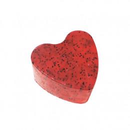 """""""Клубника"""" (Сердце) мыло твердое глицериновое ручной работы 85 гр.±5"""