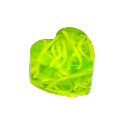 """""""Лимон и лайм"""" (Сердце) мыло твердое глицериновое ручной работы 85 гр.±5"""