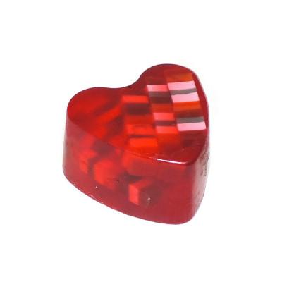 """""""Вишня"""" (Сердце) мыло твердое глицериновое ручной работы 85 гр.±5"""