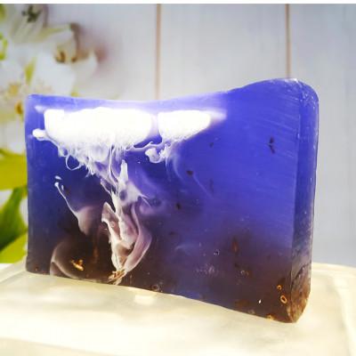 """""""Лаванда"""" мыло твердое глицериновое ручной работы 100 гр.±5"""