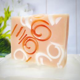"""""""Ваниль с карамелью"""" мыло твердое натуральное ручной работы 100 гр.±5"""