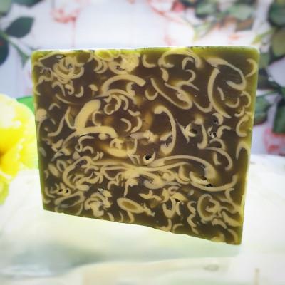 """""""Голубая глина с эфирным маслом иланг-иланга"""", мыло твердое натуральное ручной работы"""
