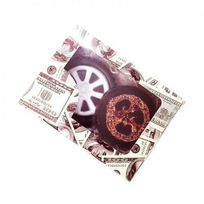 Набор подарочный №164 в цветной коробке  с окошком к 23 февраля (2 вида  мыла )