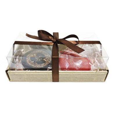 """Набор подарочный """"Сердце в шоколаде""""  ко Дню влюбленных (2 кусочка мыла)"""