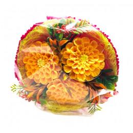 Набор подарочный №119 «Осенние георгины» (букет- мыло)