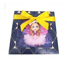 """Набор детский  """"Кукла Юленька"""" (кукла с крыльями-раскрасками + мыло в подарок)"""