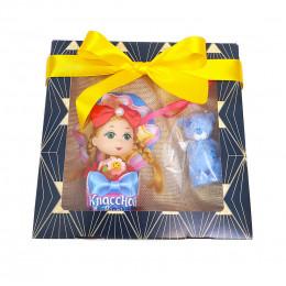 """Набор детский  """"Куколка и мишка Тедди"""" (кукла во вкладыше + мыло Мишка Тедди)"""
