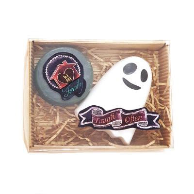Набор подарочный №124 к Хэллоуину (мыло -привидение, медалька)