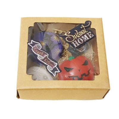 """Набор подарочный №125 «Злобная тыква"""" (мыло –тыква, ведьмочка; волшебный кристалл)"""