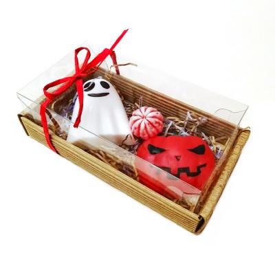 Набор подарочный №121 к Хэллоуину (мыло -привидение, тыква, апельсинка)