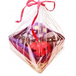 """Набор подарочный №122 к Хэллоуину (мыло -ведьмочка, паук, тыква; гейзер для ванн""""Блэк"""")"""