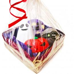 """Набор подарочный №123 к Хэллоуину (мыло -ведьмочка, привидение, тыква; гейзер для ванн""""Блэк"""")"""