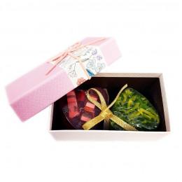 Набор подарочный №143 ко Дню влюбленных (мыло-сердечко)