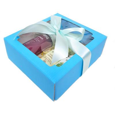Набор подарочный №51 в голубой коробке (уходовая косметика/мыло)