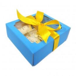 Набор подарочный №52 в голубой коробке (уходовая косметика/мыло)