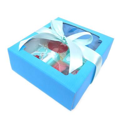 Набор подарочный женский (медработнику) №53 в голубой коробке (тематическое мыло)