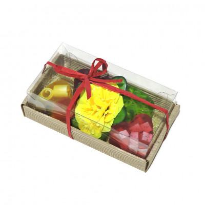 Набор подарочный №61  (4 шт. мыло-сердечко ассорти)