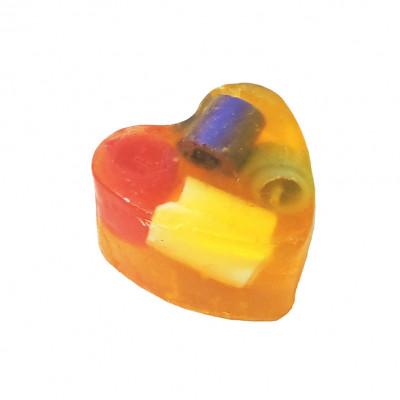 """""""Полевые цветы"""" (Сердце) мыло твердое глицериновое ручной работы 85 гр.±5"""