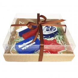 Набор подарочный №66 к 23 февраля (4 кусочка мыла)