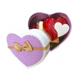 Набор подарочный №140 ко Дню влюбленных (набор - сердечко - мыло+косметика)
