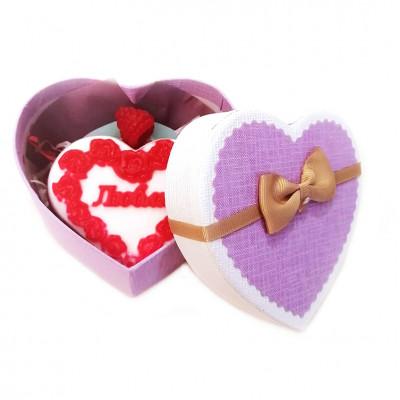 Набор подарочный №142 (мужской) ко Дню влюбленных (набор - сердечко - мыло)