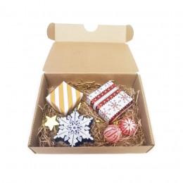 Набор новогодний Новогодняя снежинка с мандаринками (косметика+мыло)
