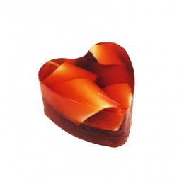 """""""Апельсин с шоколадом"""" (Сердце) мыло твердое фигурное ручной работы 85 гр.±5"""